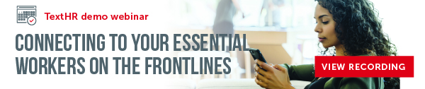woman on phone - connecting to your essential workers on the frontlines
